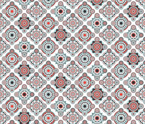 Retro Mandala Delight fabric by onelittleprintshop on Spoonflower - custom fabric