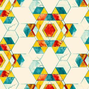 Retro hexagon