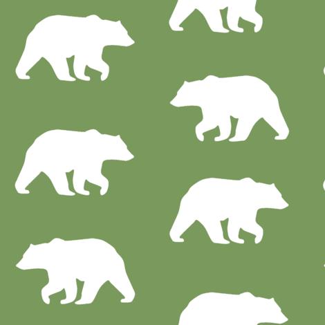Bear Hike // Evergreen fabric by buckwoodsdesignco on Spoonflower - custom fabric