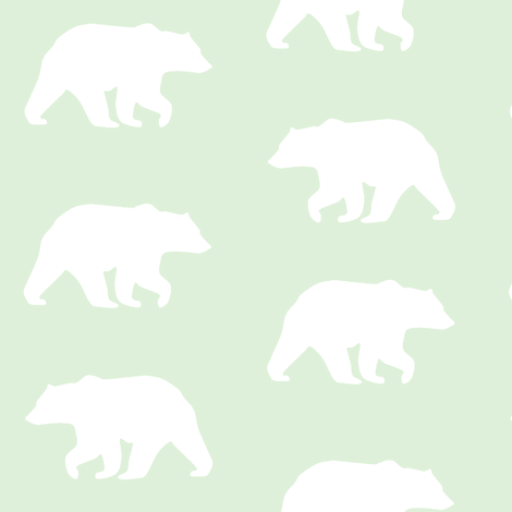 Bear Hike // cucumber fabric by buckwoodsdesignco on Spoonflower - custom fabric