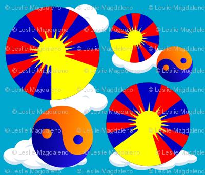 Tibetan Mandalas in the Sky