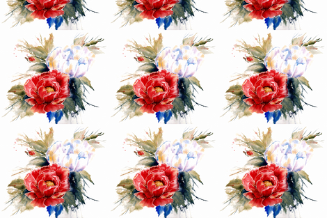 Glorious_Red fabric by wildflowerfabrics on Spoonflower - custom fabric