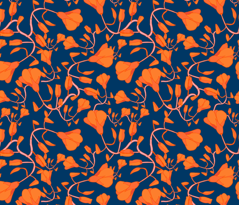 8by8_spoonflower_californiapoppy fabric by joan_herlinger_design_&_illustration on Spoonflower - custom fabric