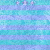 Stripes & Bluebells Dress Front