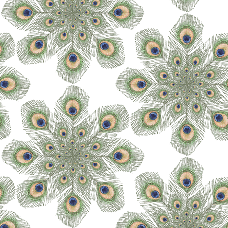 Peacock Feather Mandala fabric by eclectic_house on Spoonflower - custom fabric