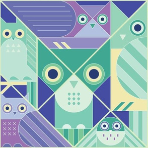 Modernist Owls Cool Towns Large