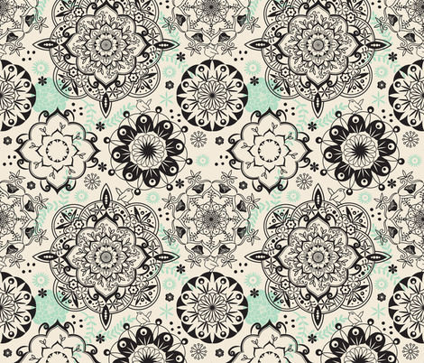 Mandala pattern fabric by camcreative on Spoonflower - custom fabric