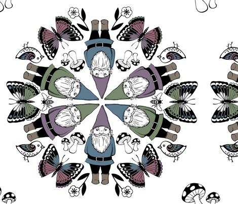 Gnome Mandala  fabric by simplyprinted on Spoonflower - custom fabric