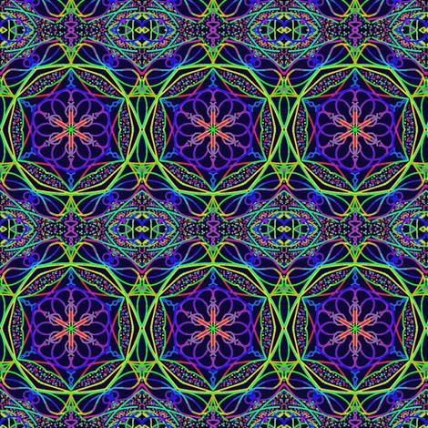 Grandma's Gem Paths on Blackberry fabric by rhondadesigns on Spoonflower - custom fabric