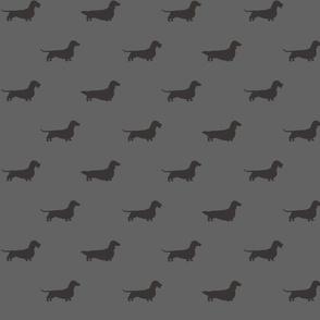 Dachshunds Pattern  Grey