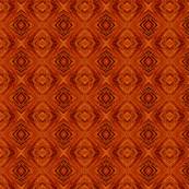 Burnished Copper Diamond Brocade