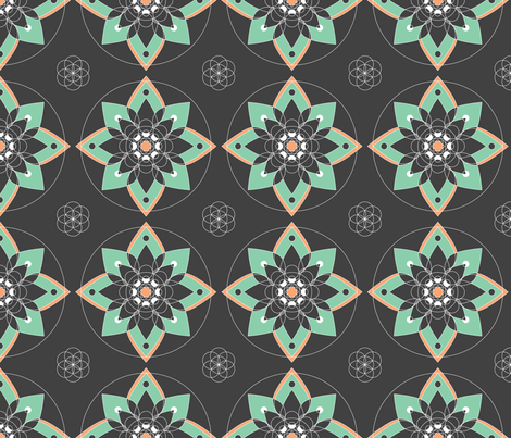 Floral-Mandala fabric by lydesign on Spoonflower - custom fabric