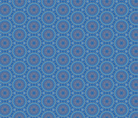 Mandala blue fabric by hollywood_royalty on Spoonflower - custom fabric
