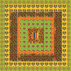 Summer Loud Quilt Block 2