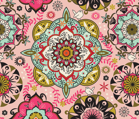 Mandala color fabric by camcreative on Spoonflower - custom fabric