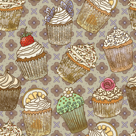 Lots of Cupcakes! fabric by maritcooper on Spoonflower - custom fabric