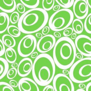 Funky Ovals - avocado inverse