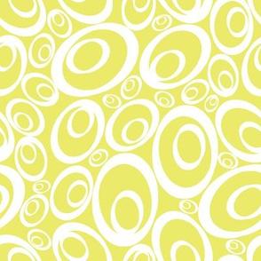 Funky Ovals - buttercream inverse