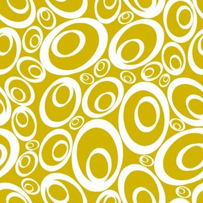 Funky Ovals - goldenrod inverse