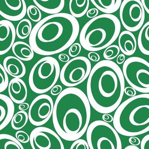 Funky Ovals - greeny inverse