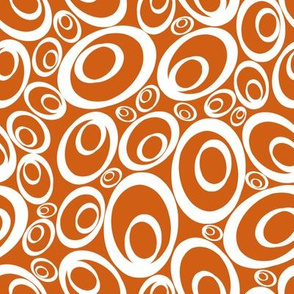 Funky Ovals - orangy inverse