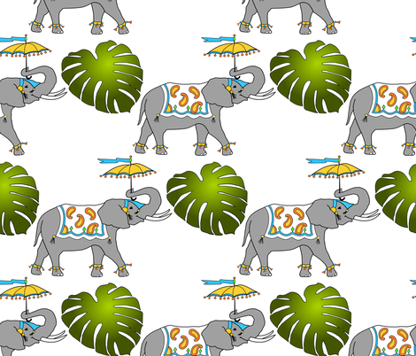 Elephant Parade fabric by rose_mary on Spoonflower - custom fabric