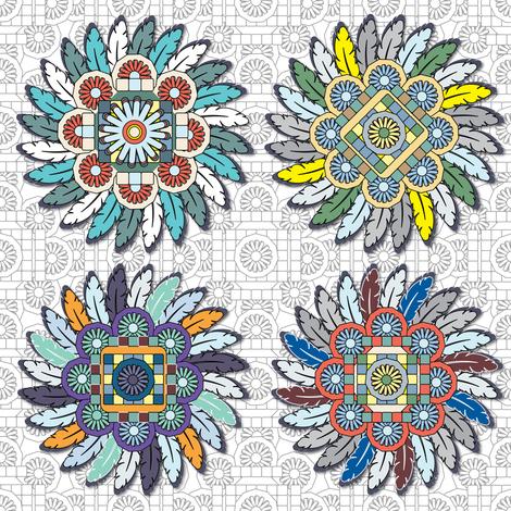 Mandala_Lace_900_HD fabric by 1103dpl on Spoonflower - custom fabric