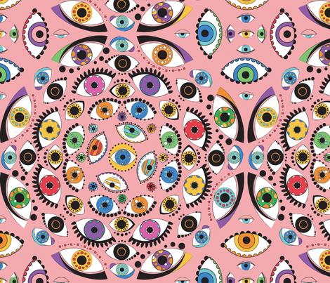 100 eyes fabric by lisahilda on Spoonflower - custom fabric