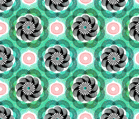 African mandala fabric by ottomanbrim on Spoonflower - custom fabric