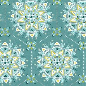 Wanderling - Boho Mandala Geometric Teal