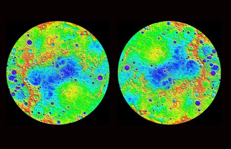 Mercury topography planets view from outer space solar for Fabric planets solar system