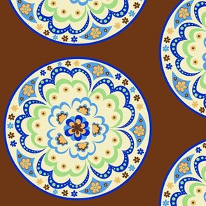 1960's Mandala; Chocolate