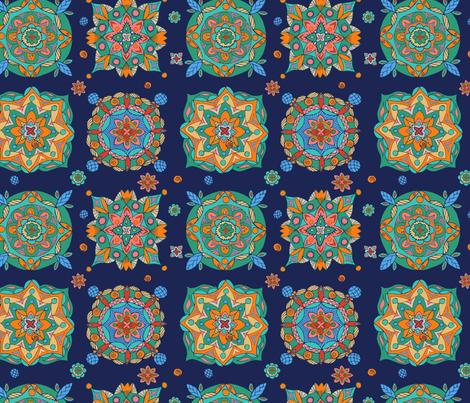 mandal_square fabric by katebartholomew on Spoonflower - custom fabric