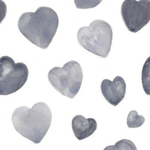 Soft grey hearts