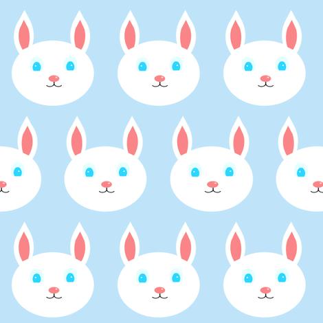 Blue Bunnies - Bunny Hop fabric by pumpkintreelane on Spoonflower - custom fabric