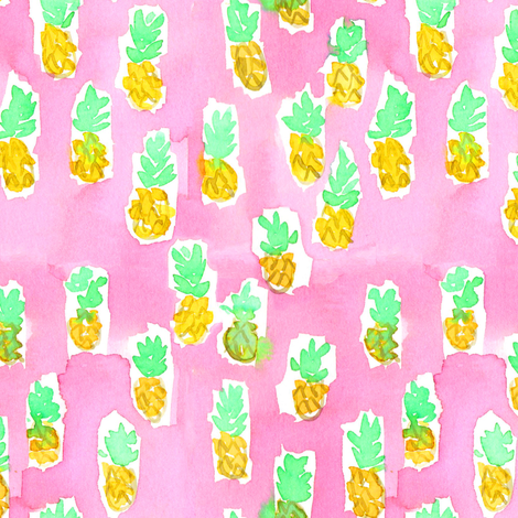 pineapple juice fabric by erinanne on Spoonflower - custom fabric