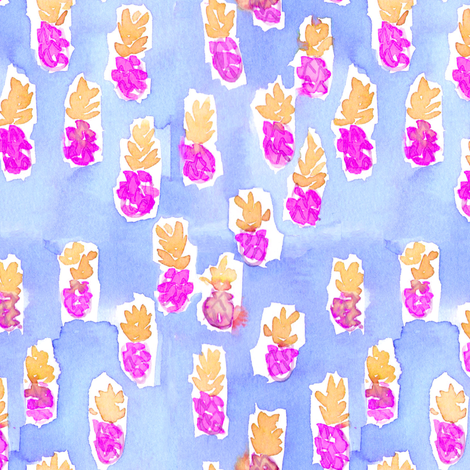 pineapple berry juice fabric by erinanne on Spoonflower - custom fabric