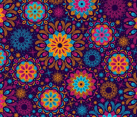 Zen Garden (Purple) fabric by robyriker on Spoonflower - custom fabric
