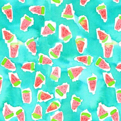 watermelon smash 2 fabric by erinanne on Spoonflower - custom fabric