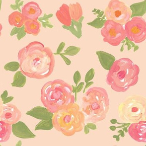 Creamsicle Orange & Peach Florals