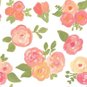 Pretty in Pink and Peach Florals