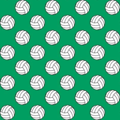 Rblack_white_shamrock_green_volleyball_shop_preview