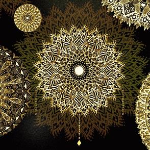 Golden Mandala by Artninus