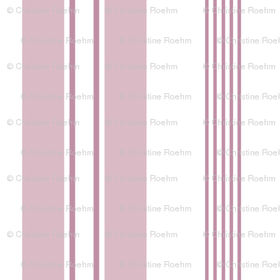 stripes - french ticking - dusty pink mauve