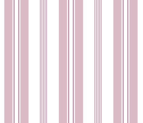 stripes - french ticking - dusty pink mauve fabric by christine_roehm_design on Spoonflower - custom fabric