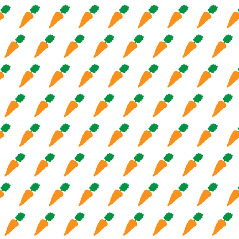 Carrots on White - Bunny Hop Collection fabric by pumpkintreelane on Spoonflower - custom fabric