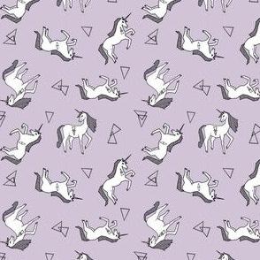 unicorn fabric // light pastel purple nursery baby fabric nursery unicorns