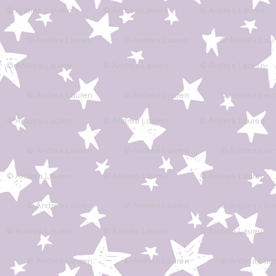 Star Fabric Lavender Purple Stars Fabric Pastel Purple