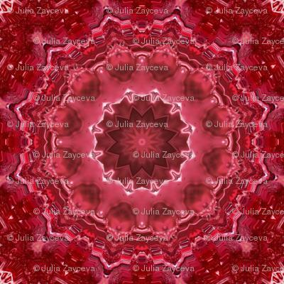 Mandala . The red morning .