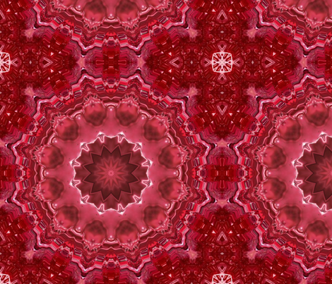Mandala . The red morning . fabric by fuzzyfox on Spoonflower - custom fabric